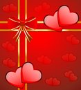 Bright red background with hearts to the day of saint valentin Stock Photos