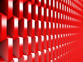 Bright Red Geometric Red Cubes Background