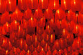 Bright red lanterns hanging beautiful Royalty Free Stock Images