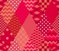 Bright red patchwork pattern. Seamless print for fabric, textile, wrapping paper.