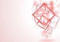 Bright red squares design Royalty Free Stock Photo
