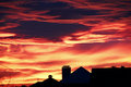 Bright red sunset Royalty Free Stock Photo