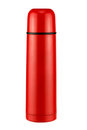 Bright red thermos Royalty Free Stock Photo