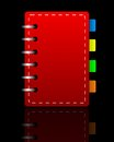Bright red weekly on a black background illustration Royalty Free Stock Images