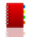 Bright red weekly on a white background illustration Royalty Free Stock Photography