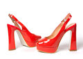 Bright red women shoes Royalty Free Stock Photo