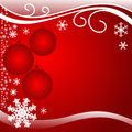 Bright red xmas background with balls is presented Stock Photography