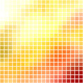 Bright red and yellow mosaic Stock Photo