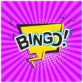 Bright retro comic speech bubble with Bingo text