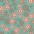 Bright seamless background with a pattern of concentric circles drops Royalty Free Stock Photo