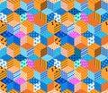 Bright seamless patchwork pattern.