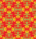 Bright seamless pattern with floral ornament Stock Images