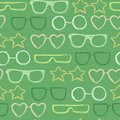 Bright seamless pattern with hand drawn sunglasses. Beautiful design elements, perfect for prints and pattern.