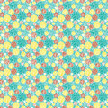 Bright seamless pattern in retro style background kids print balls on a blue Royalty Free Stock Images