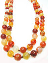 Bright semigem beads jewellery Royalty Free Stock Photography