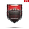 Bright shield in the ice hockey helmet inside. Royalty Free Stock Photo