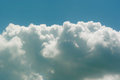 Bright sky blue clouds Royalty Free Stock Photography