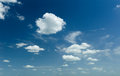 Bright sky with clouds summer Royalty Free Stock Image