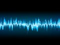 Bright sound wave on a dark blue eps background vector file included Stock Photos
