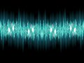 Bright sound wave on a dark green eps background vector file included Stock Images