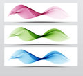 Bright speed web swoosh futuristic wave line set. Dynamic lines collection in blue and pink color. Royalty Free Stock Photo