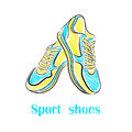Bright sport shoes