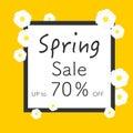 Bright spring banners design. Vector resizable illustration.