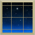 Bright star through the window Royalty Free Stock Photos