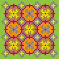 Bright stitching pattern on a light green background Royalty Free Stock Photo