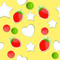 Bright strawberry cute wallpaper seamless Royalty Free Stock Photos