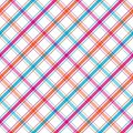 Bright Stripes Plaid Royalty Free Stock Image