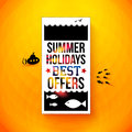 Bright summer holidays poster typography design vector illustr illustration Stock Image