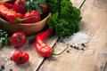 Bright summer vegetables Royalty Free Stock Photo