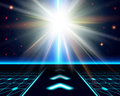 Bright sun burst fantasy cosmic background vector image Royalty Free Stock Photos