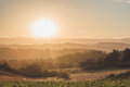 Bright Sun Over Rolling Hills ...