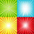Bright Sunburst Background Wit...