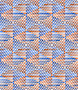 Bright symmetric seamless pattern with interweave figures. Conti Royalty Free Stock Photo