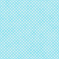 Bright Teal and White Small Polka Dots Pattern Repeat Background Royalty Free Stock Photo