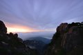 Bright top peak sunrise mt huangshan anhui province china Stock Image