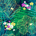 Bright tropical pattern Royalty Free Stock Photo
