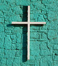 Bright Turquoise Cross Royalty Free Stock Photography