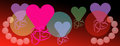 Bright valentine hearts celebration of love background panoramic backdrop abstract balloons for valentines day greeting Royalty Free Stock Photos
