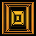 Bright vector optical illusion op art element for your design Royalty Free Stock Image
