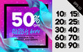 Bright Vector Sale Template with Flying Silk. Advertising For Cl