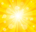 Bright vector sun effect background Stock Image