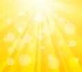 Bright Vector Sun and Paint Splashes Effect Royalty Free Stock Photo
