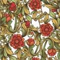 Bright vintage pattern