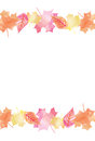 Bright Watercolor Fall Autumn Leaves Vector Background 2