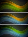 Bright wavy banners abstract vector illustration eps Royalty Free Stock Photo