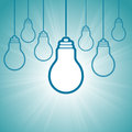 Bright winning idea vector illustration of white light bulb concept Royalty Free Stock Photos